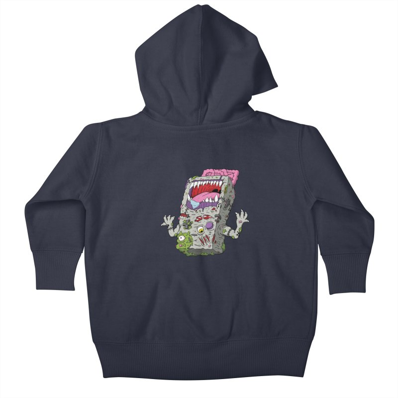 Controller Freaks - Game Boy Kids Baby Zip-Up Hoody by Mystic Soda Shoppe