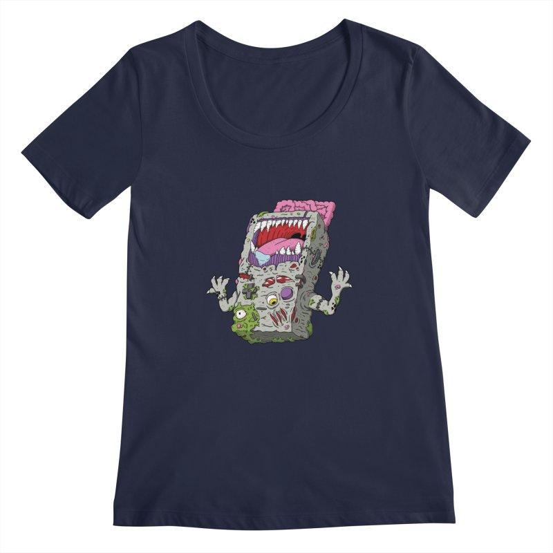 Controller Freaks - Game Boy Women's Scoopneck by Mystic Soda Shoppe