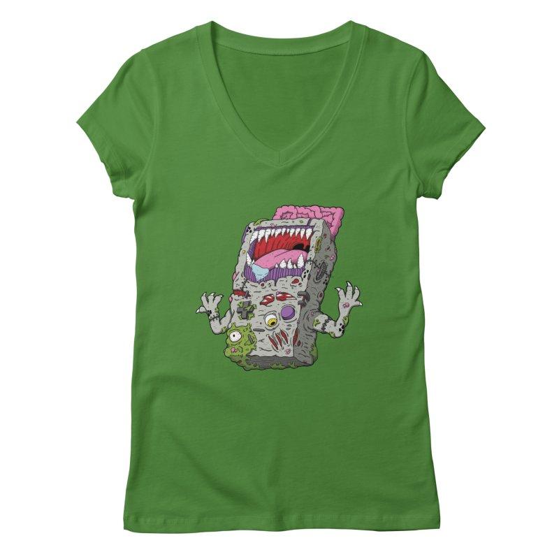 Controller Freaks - Game Boy Women's V-Neck by Mystic Soda Shoppe