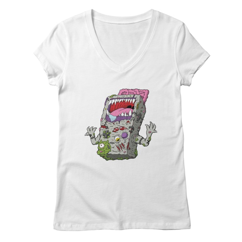Controller Freaks - Game Boy Women's V-Neck by Mystic Soda Shoppe