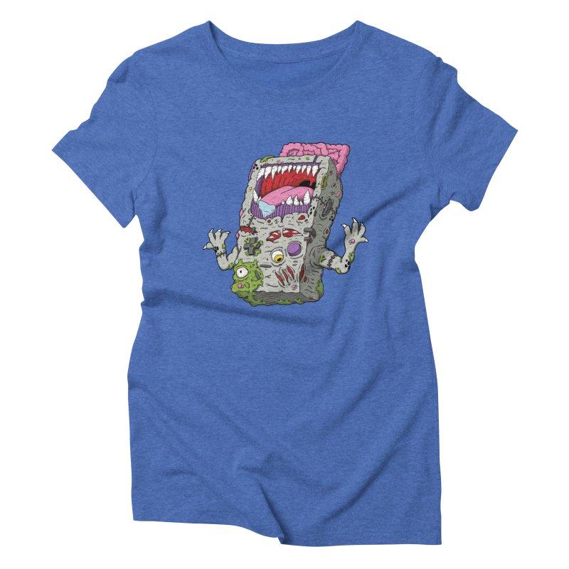 Controller Freaks - Game Boy Women's Triblend T-Shirt by Mystic Soda Shoppe