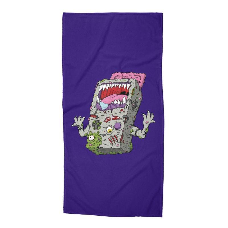Controller Freaks - Game Boy Accessories Beach Towel by Mystic Soda Shoppe