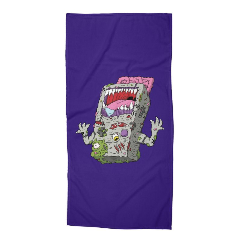 Controller Freaks - Game Boy Accessories Beach Towel by Mystic Soda Shoppe