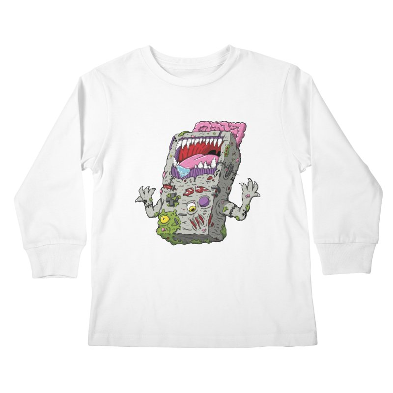 Controller Freaks - The G4ME-B0Y Kids Longsleeve T-Shirt by Mystic Soda