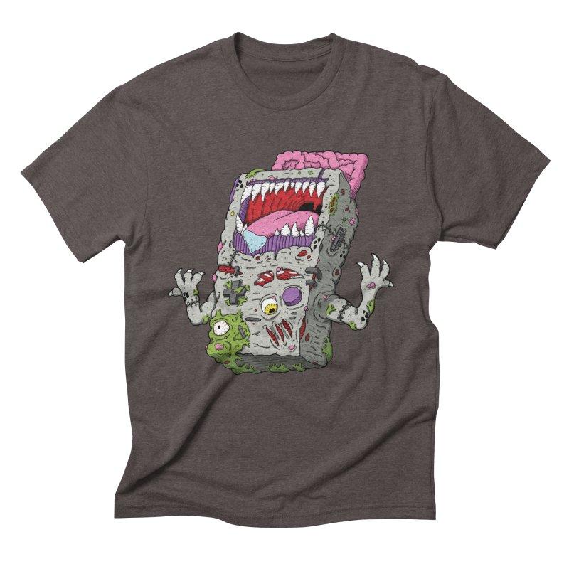 Controller Freak - Game Boy Men's Triblend T-shirt by Mystic Soda Shoppe