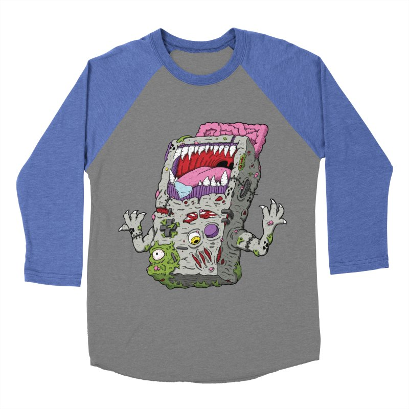 Controller Freak - Game Boy Men's Baseball Triblend T-Shirt by Mystic Soda Shoppe