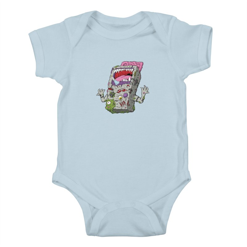 Controller Freak - Game Boy Kids Baby Bodysuit by Mystic Soda Shoppe