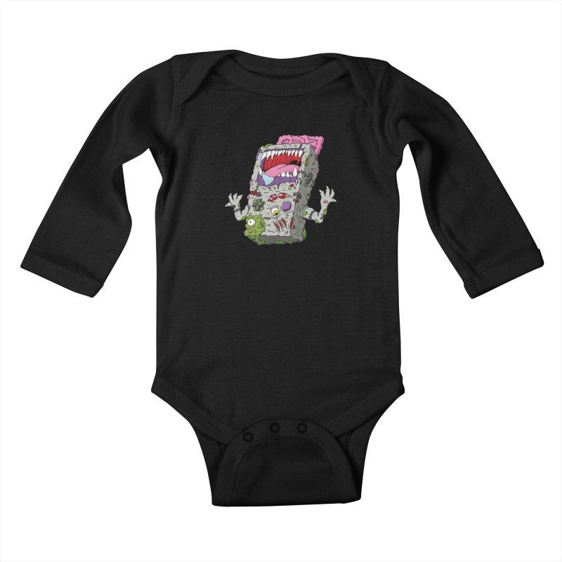 Controller Freak - Game Boy Kids Baby Longsleeve Bodysuit by Mystic Soda Shoppe
