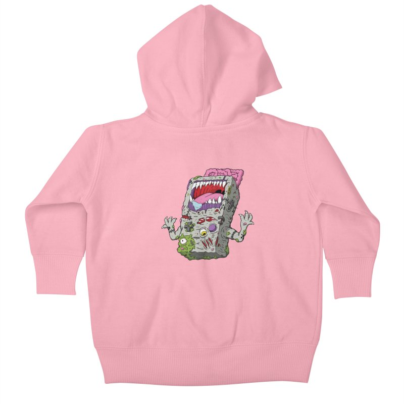 Controller Freak - Game Boy Kids Baby Zip-Up Hoody by Mystic Soda Shoppe