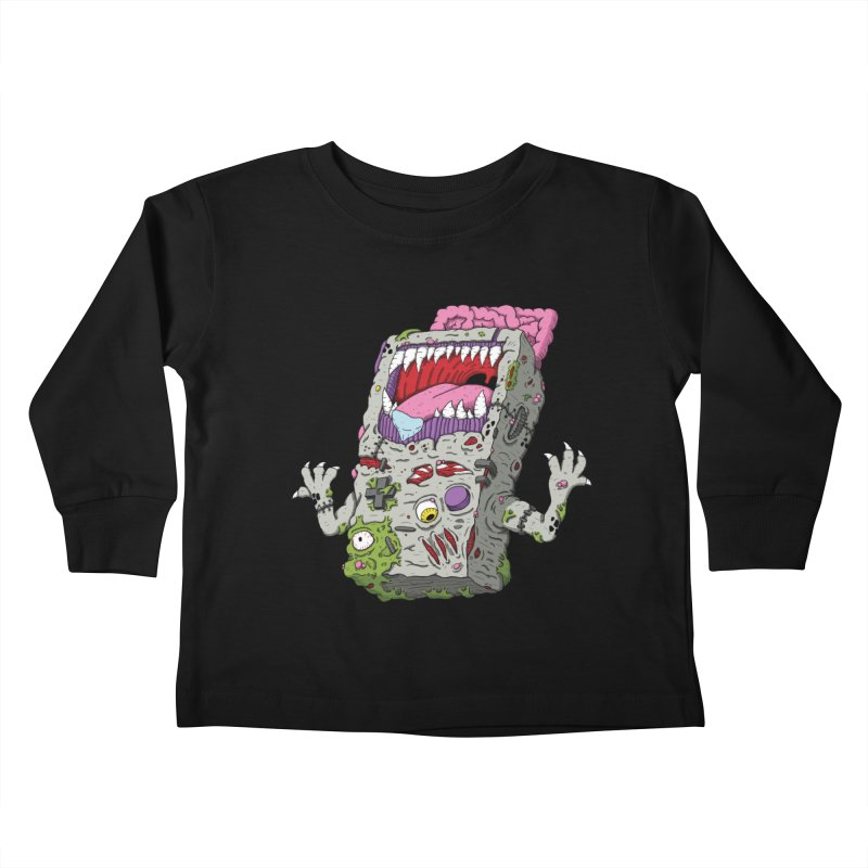 Controller Freak - Game Boy Kids Toddler Longsleeve T-Shirt by Mystic Soda Shoppe