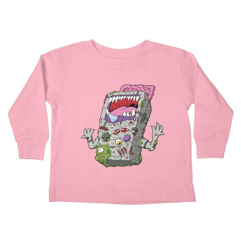 Controller Freak - Game Boy Kids Toddler Longsleeve T-Shirt by Mystic Soda Shoppe