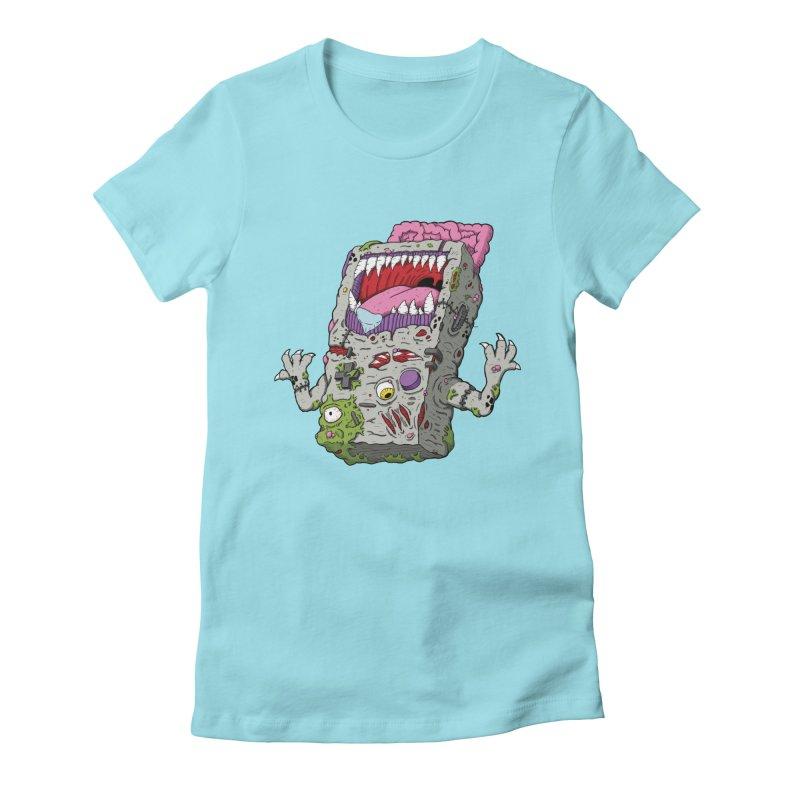 Controller Freak - Game Boy Women's Fitted T-Shirt by Mystic Soda Shoppe