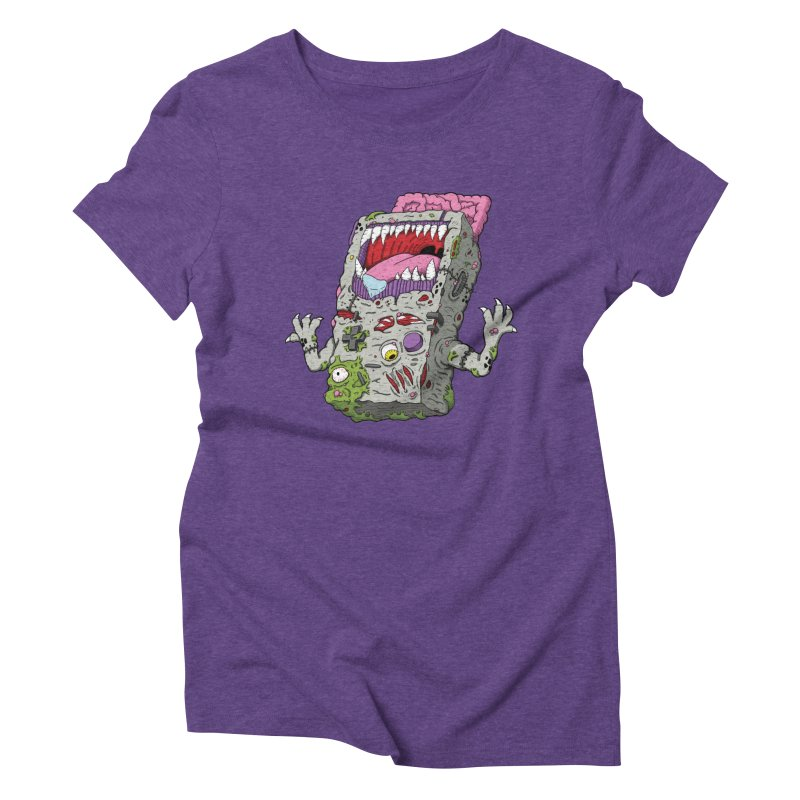 Controller Freak - Game Boy Women's Triblend T-shirt by Mystic Soda Shoppe