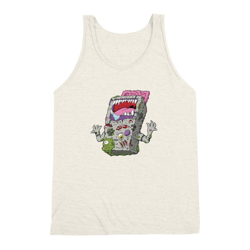 Controller Freak - Game Boy Men's Triblend Tank by Mystic Soda Shoppe