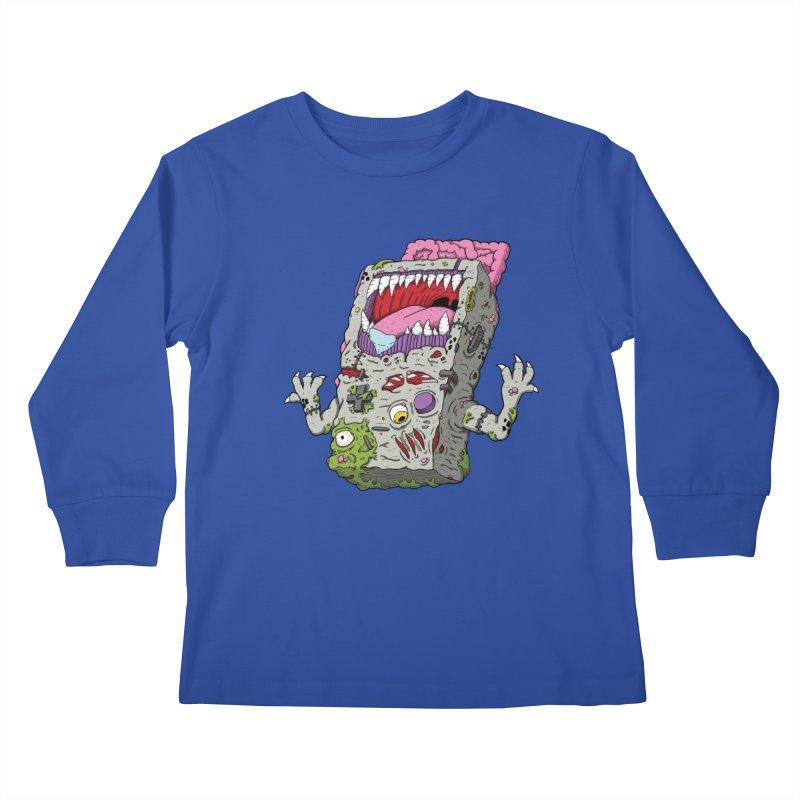 Controller Freak - Game Boy Kids Longsleeve T-Shirt by Mystic Soda Shoppe