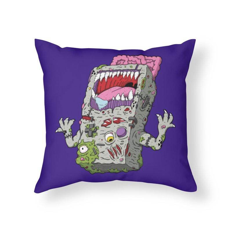 Controller Freak - Game Boy Home Throw Pillow by Mystic Soda Shoppe