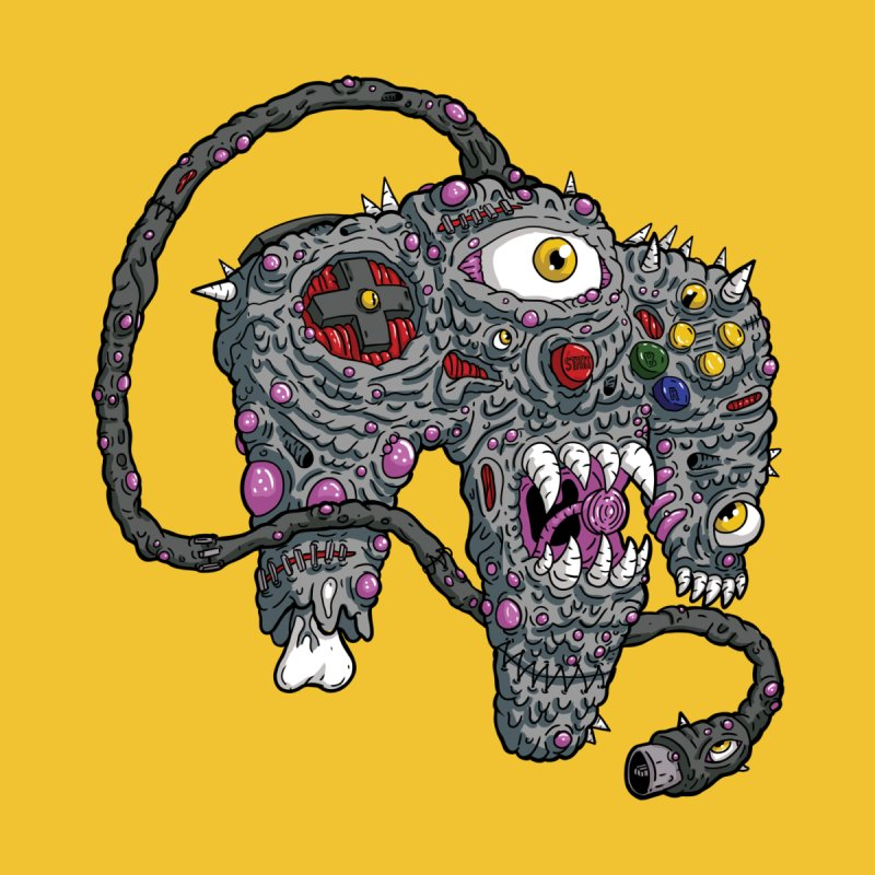 Controller Freaks Gen 2 - N64 Home Throw Pillow by Mystic Soda