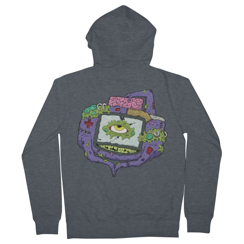 Controller Freaks - GBA Men's French Terry Zip-Up Hoody by Mystic Soda Shoppe
