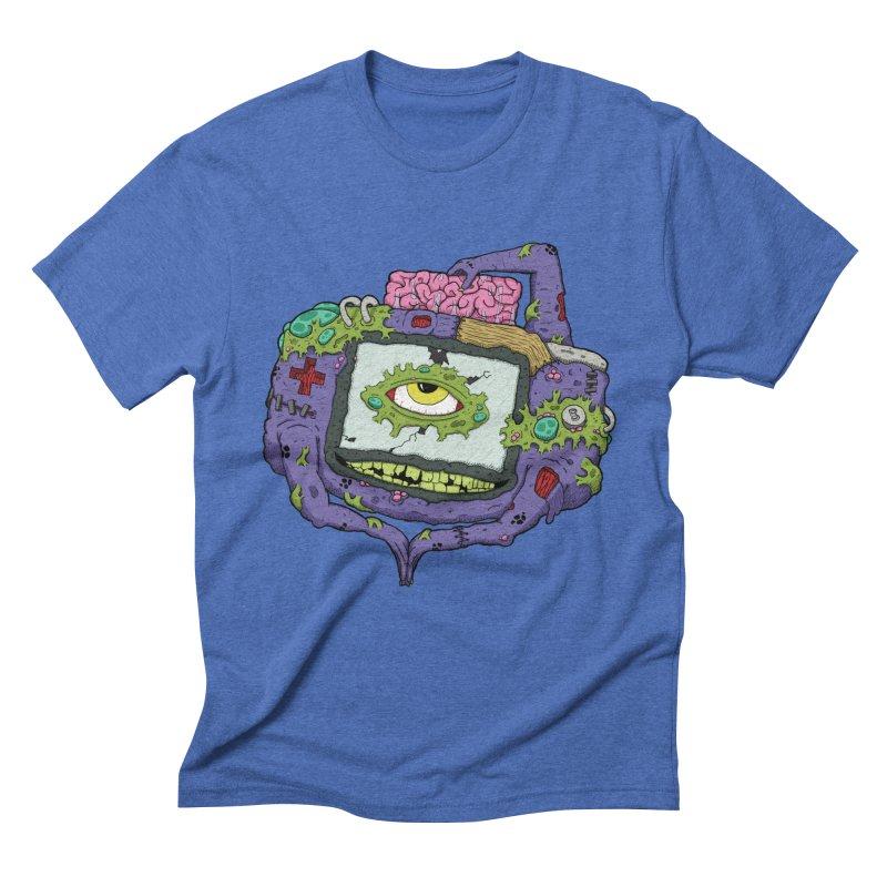 Controller Freaks - GBA Men's Triblend T-Shirt by Mystic Soda Shoppe