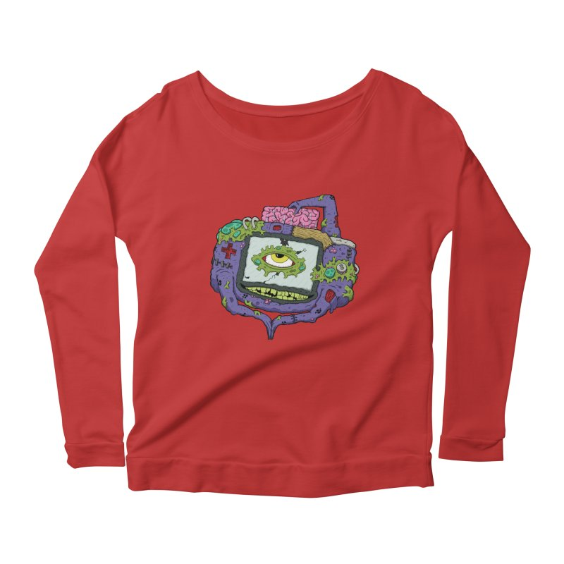 Controller Freaks - GBA Women's Scoop Neck Longsleeve T-Shirt by Mystic Soda Shoppe