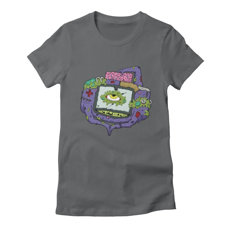 Controller Freaks - GBA Women's Fitted T-Shirt by Mystic Soda Shoppe