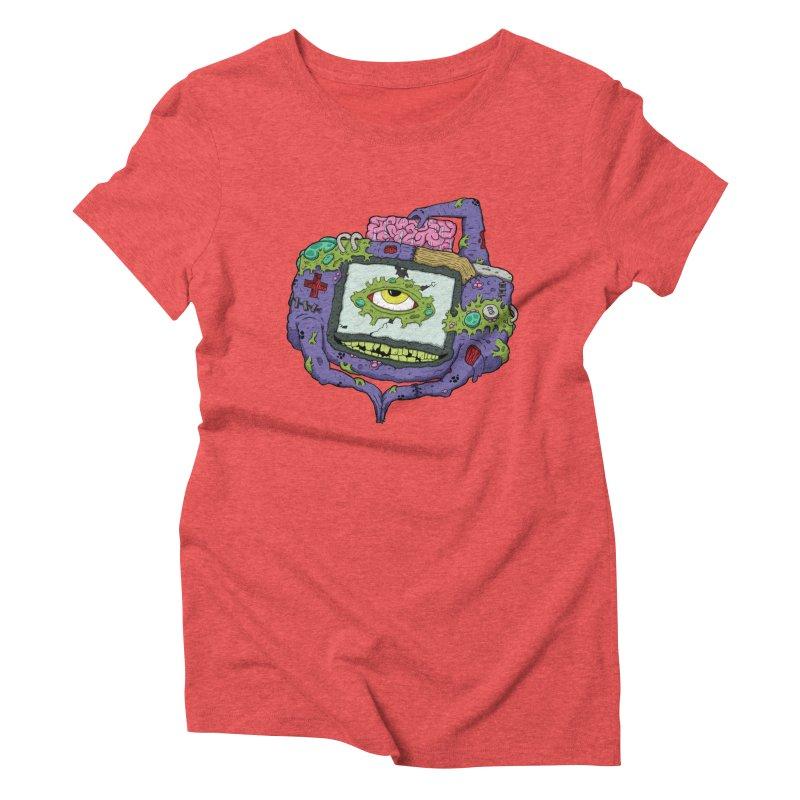 Controller Freaks - GBA Women's Triblend T-Shirt by Mystic Soda Shoppe