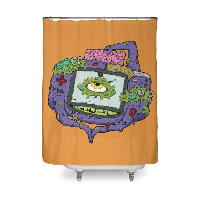 Controller Freaks - GBA Home Shower Curtain by Mystic Soda Shoppe