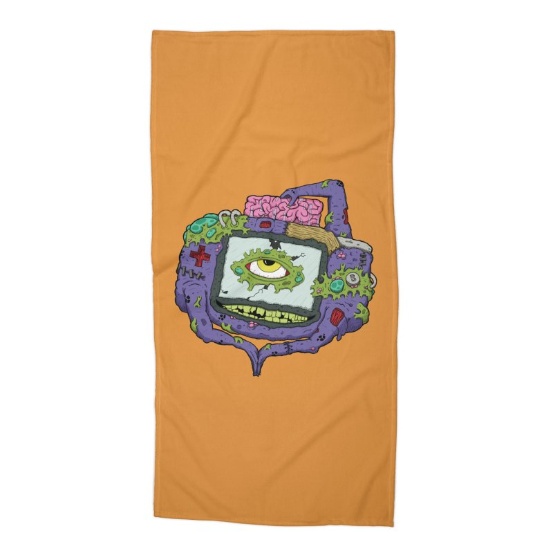 Controller Freaks - GBA Accessories Beach Towel by Mystic Soda Shoppe