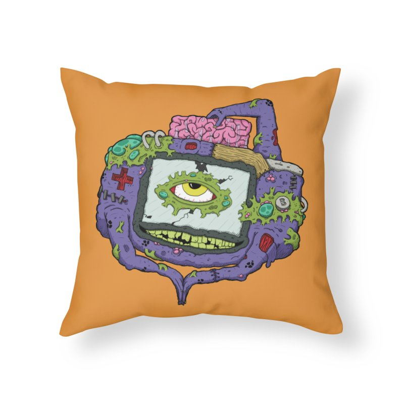 Controller Freaks - GBA Home Throw Pillow by Mystic Soda Shoppe