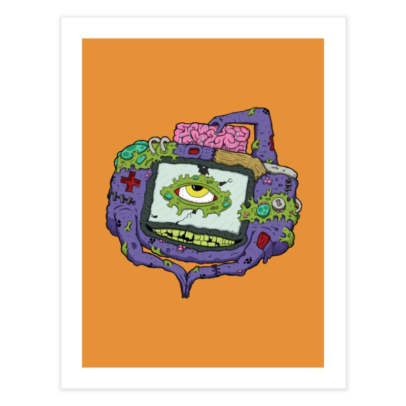 Controller Freaks - GBA Home Fine Art Print by Mystic Soda Shoppe