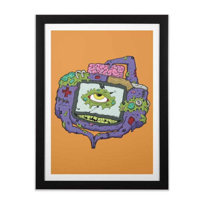 Controller Freaks - GBA Home Framed Fine Art Print by Mystic Soda Shoppe