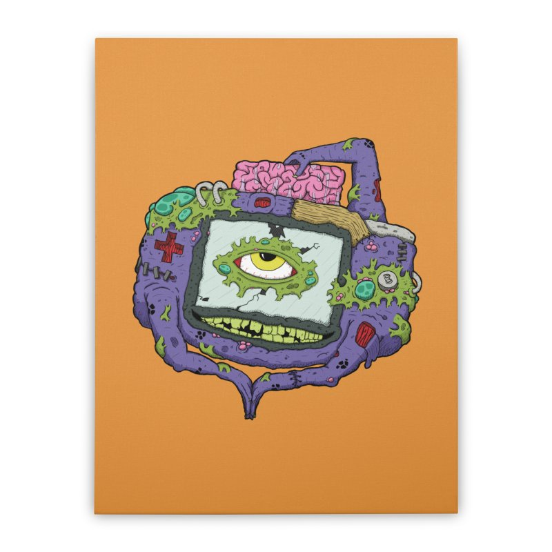 Controller Freaks - GBA Home Stretched Canvas by Mystic Soda Shoppe
