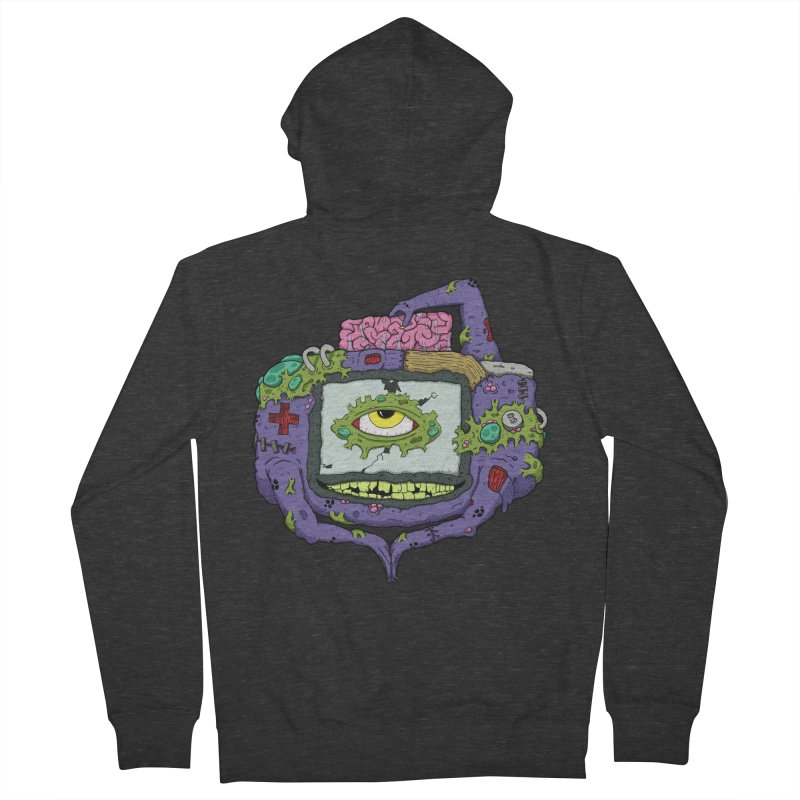 Controller Freak - GBA Men's Zip-Up Hoody by Mystic Soda Shoppe