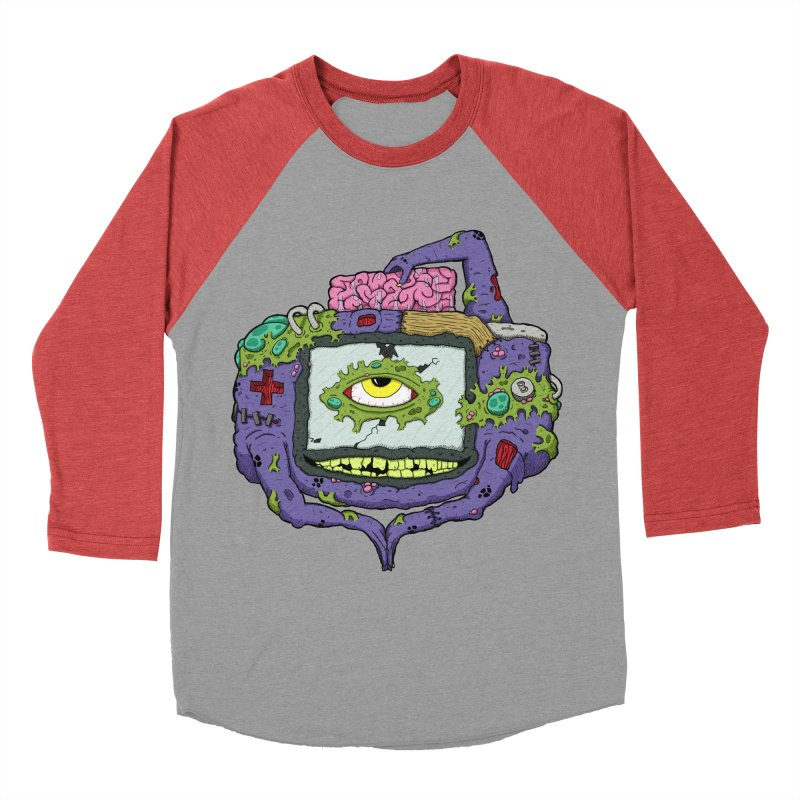 Controller Freak - GBA Women's Baseball Triblend T-Shirt by Mystic Soda Shoppe