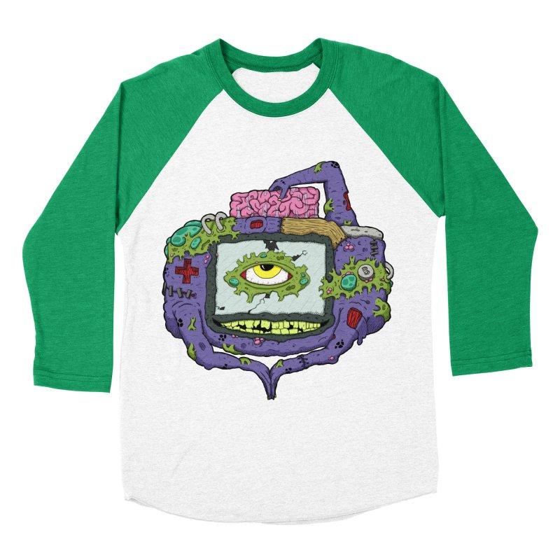 Controller Freak - GBA Men's Baseball Triblend T-Shirt by Mystic Soda Shoppe