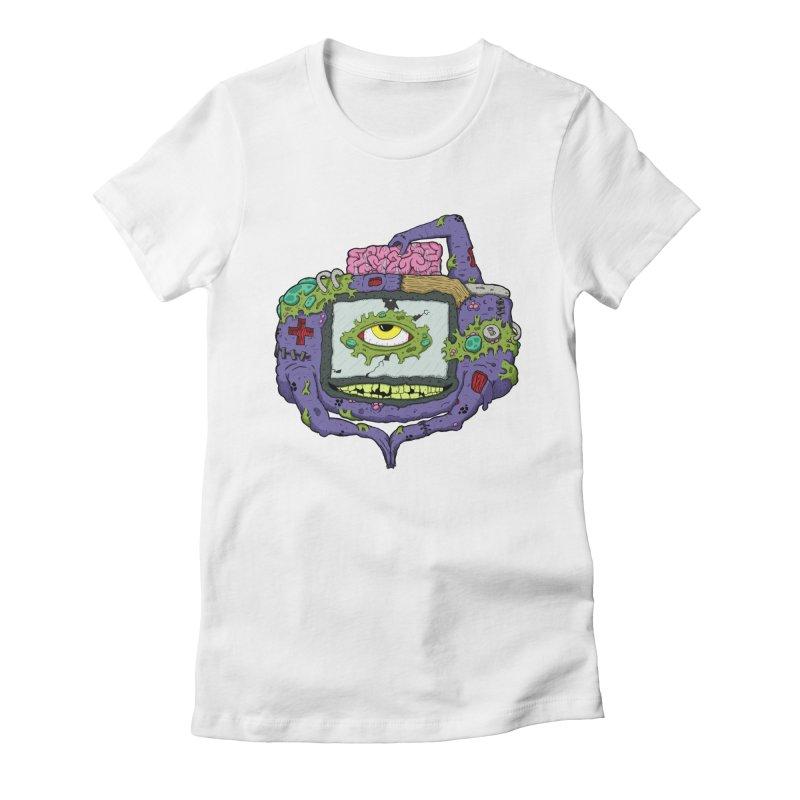 Controller Freak - GBA Women's Fitted T-Shirt by Mystic Soda Shoppe