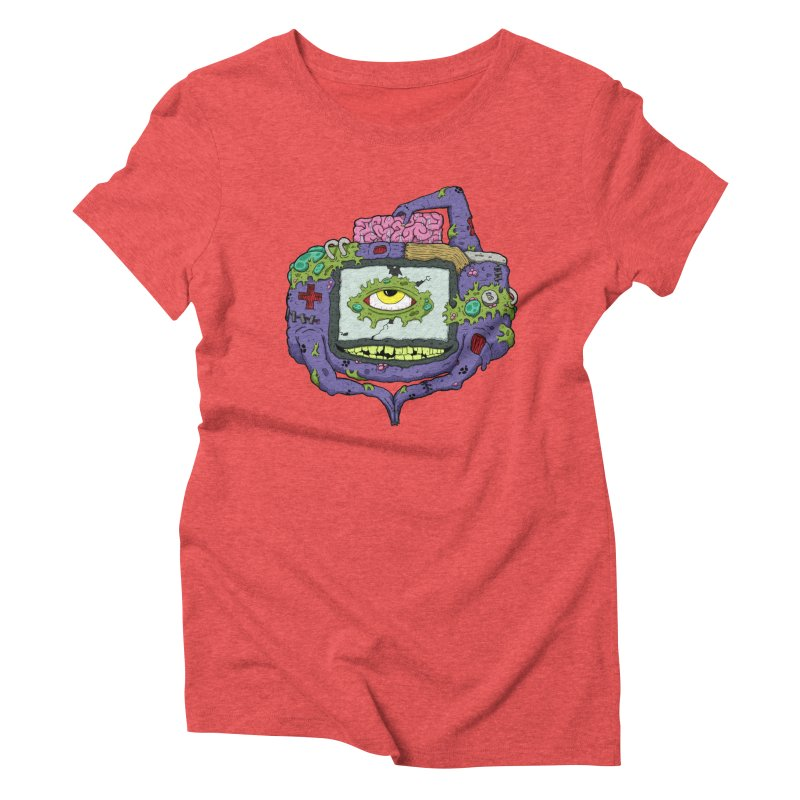 Controller Freak - GBA Women's Triblend T-shirt by Mystic Soda Shoppe