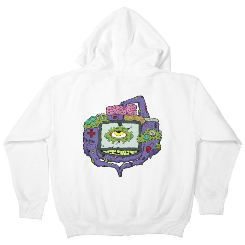 Controller Freak - GBA Kids Zip-Up Hoody by Mystic Soda Shoppe
