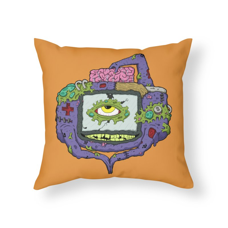 Controller Freak - GBA Home Throw Pillow by Mystic Soda Shoppe