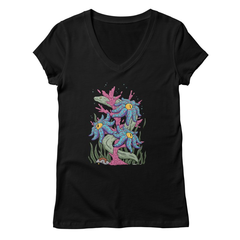 Coral Blooms Women's V-Neck by Mystic Soda