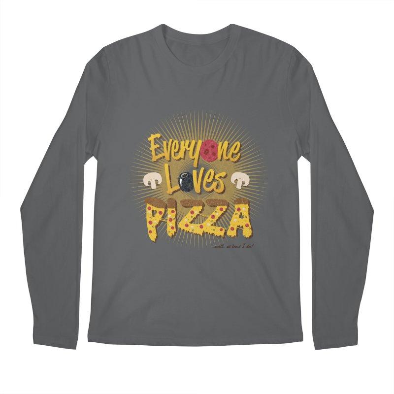 Everyone Loves Pizza Men's Longsleeve T-Shirt by Mystic Soda