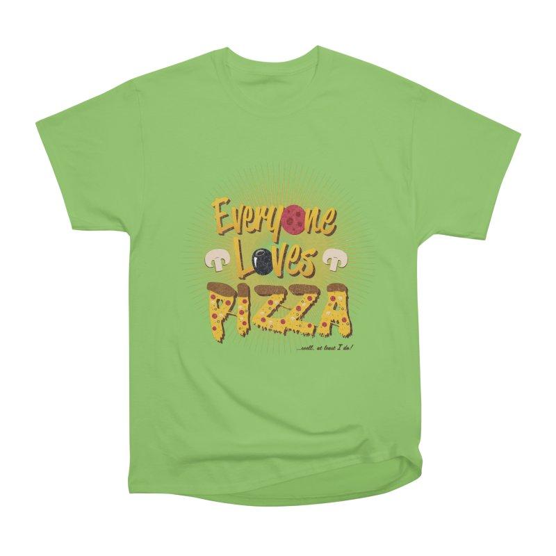 Everyone Loves Pizza Men's Heavyweight T-Shirt by Mystic Soda