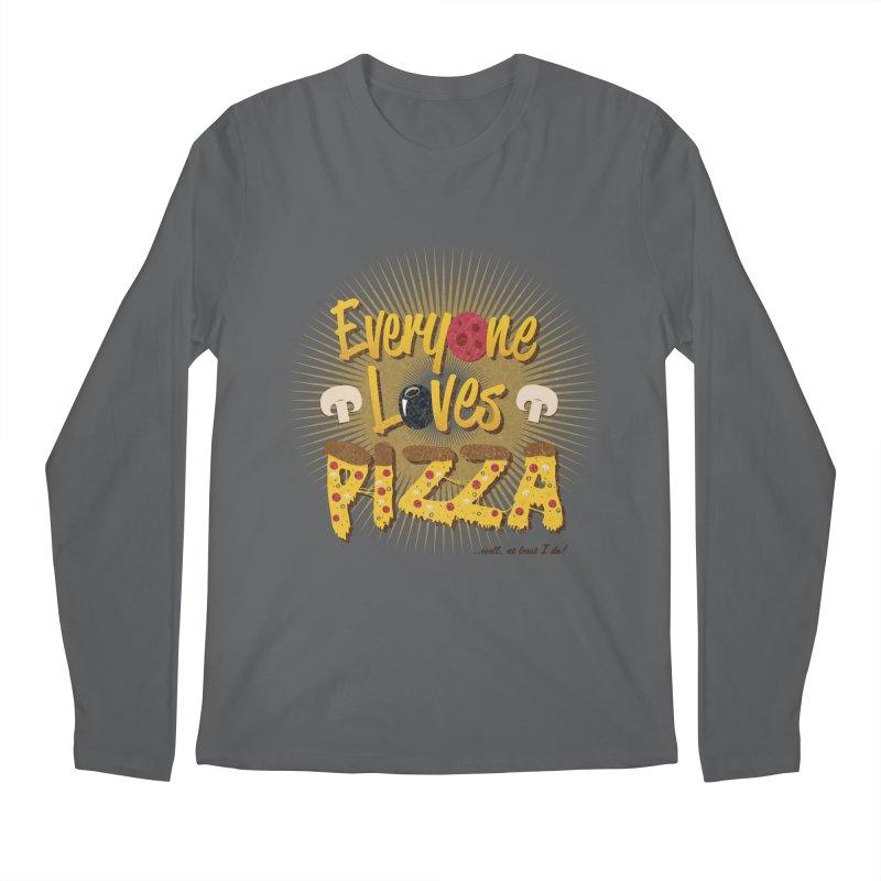 Everyone Loves Pizza Men's Regular Longsleeve T-Shirt by Mystic Soda
