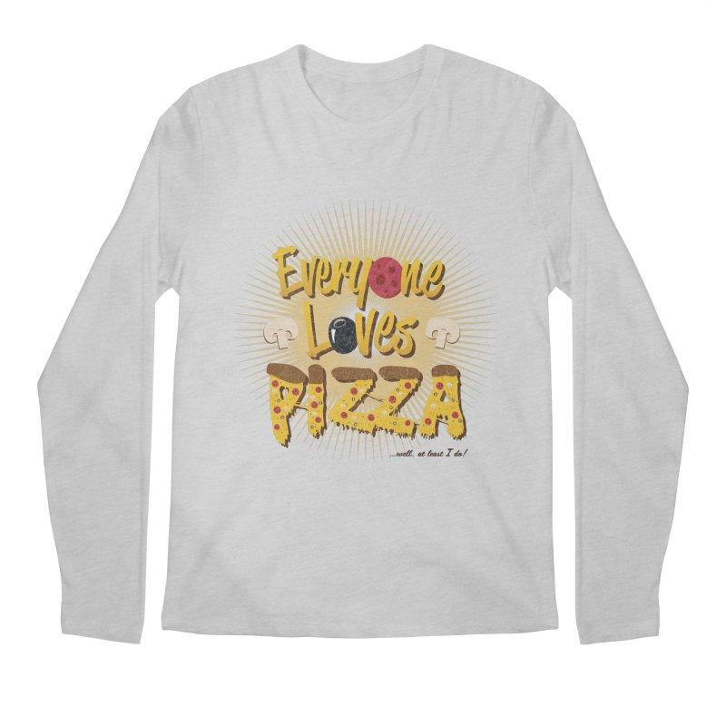 Everyone Loves Pizza Men's Regular Longsleeve T-Shirt by Mystic Soda Shoppe