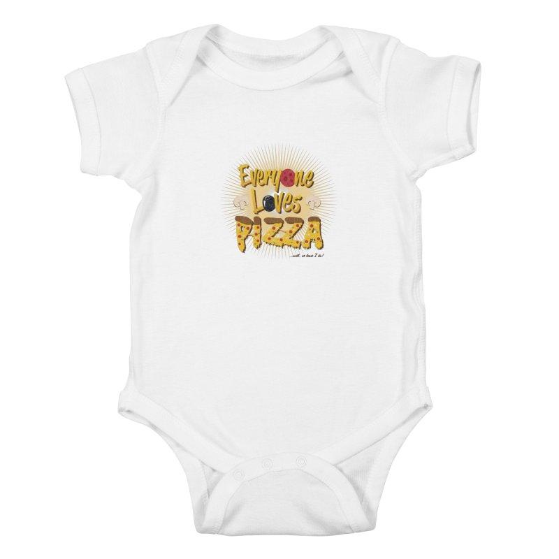 Everyone Loves Pizza Kids Baby Bodysuit by Mystic Soda