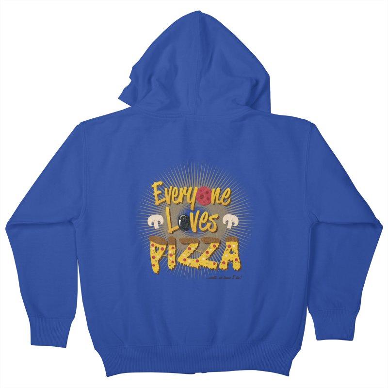 Everyone Loves Pizza Kids Zip-Up Hoody by Mystic Soda Shoppe