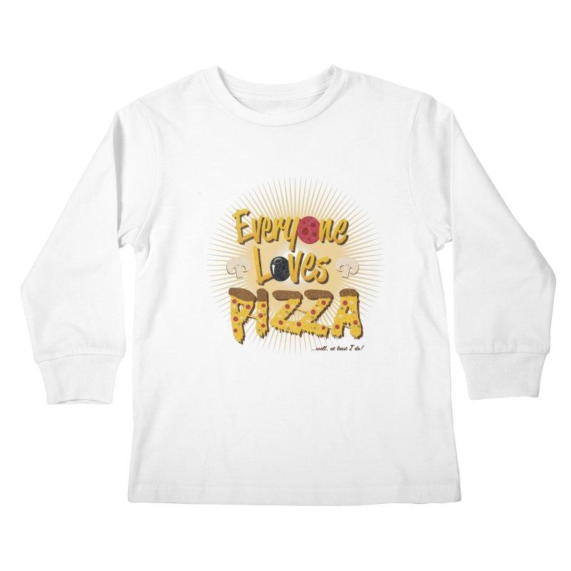 Everyone Loves Pizza Kids Longsleeve T-Shirt by Mystic Soda Shoppe
