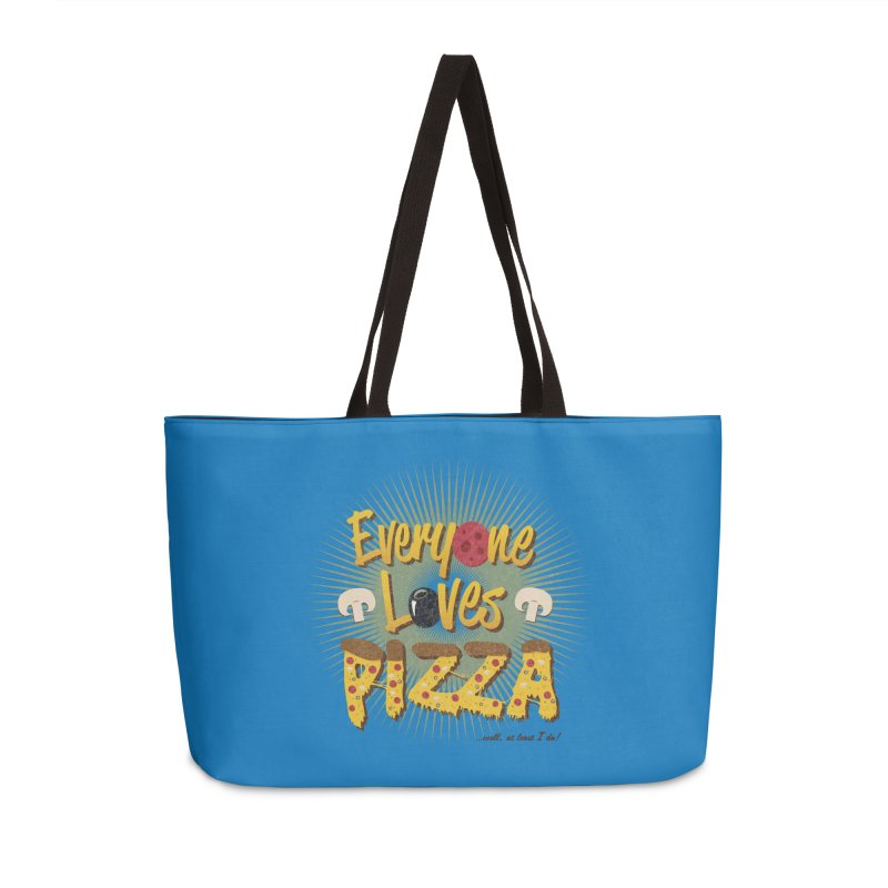 Everyone Loves Pizza Accessories Weekender Bag Bag by Mystic Soda