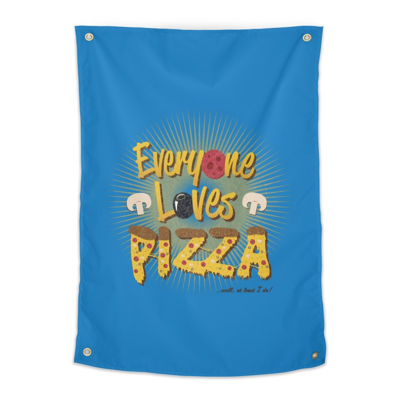 Everyone Loves Pizza Home Tapestry by Mystic Soda Shoppe