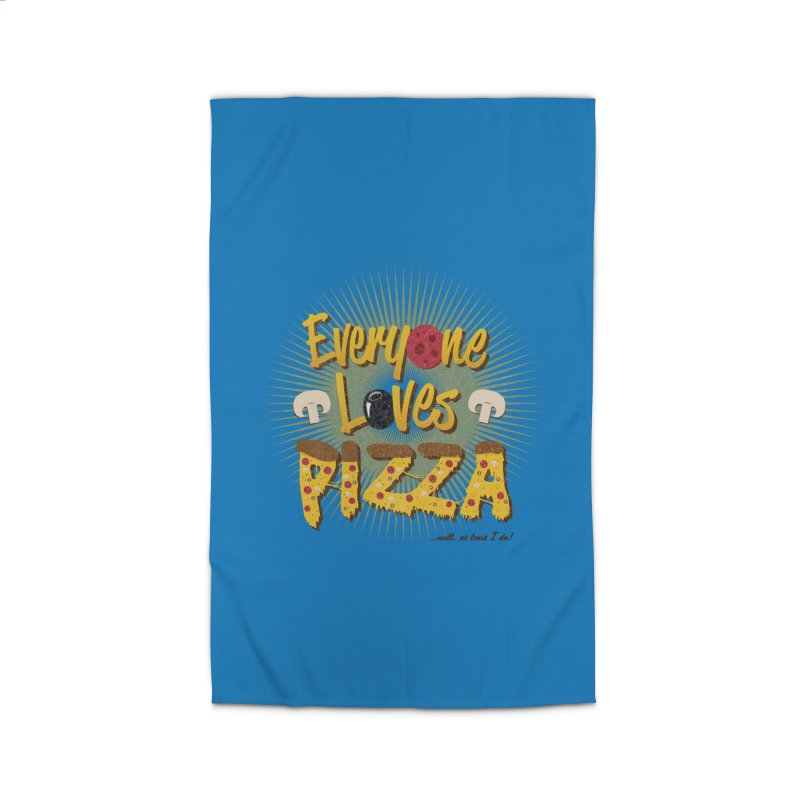 Everyone Loves Pizza Home Rug by Mystic Soda Shoppe